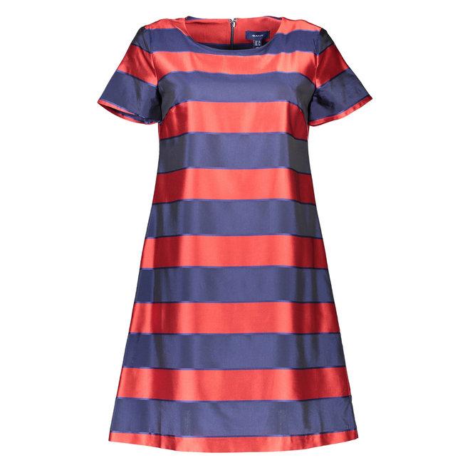 Satin Stripe Dress