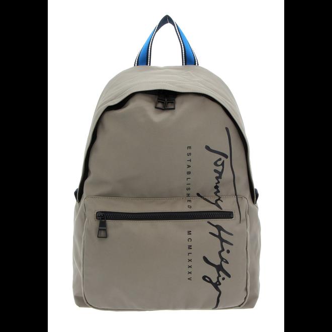 Signature Logo Laptop Sleeve Backpack -Beige
