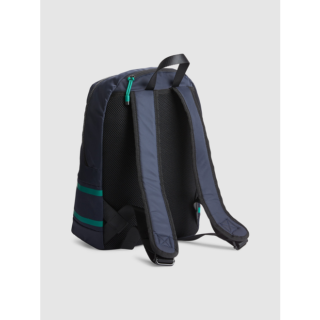 Striped Round Backpack - Blue