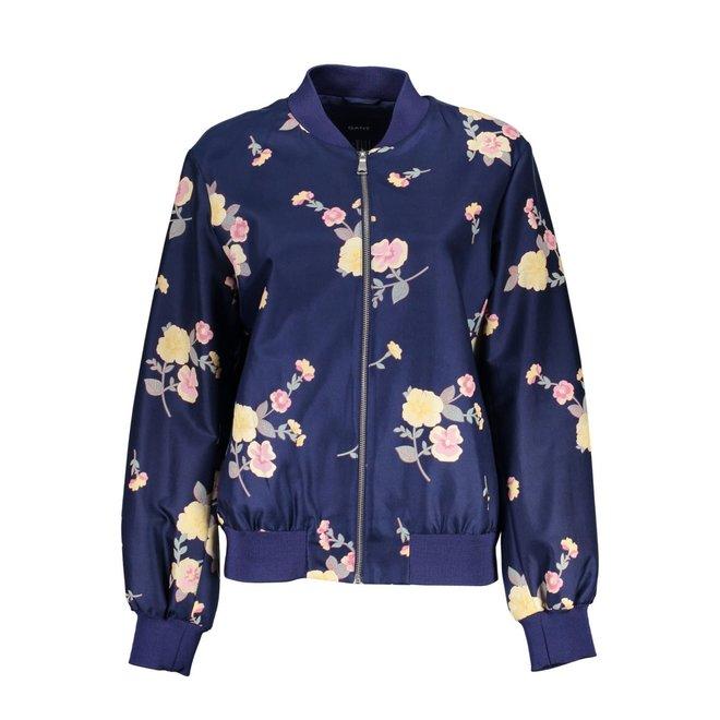Floral Bomber jacket - Blue Flowers