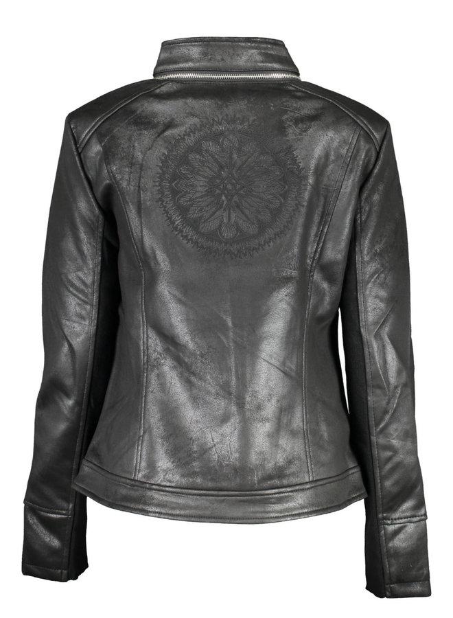Slim biker jacket embroideries