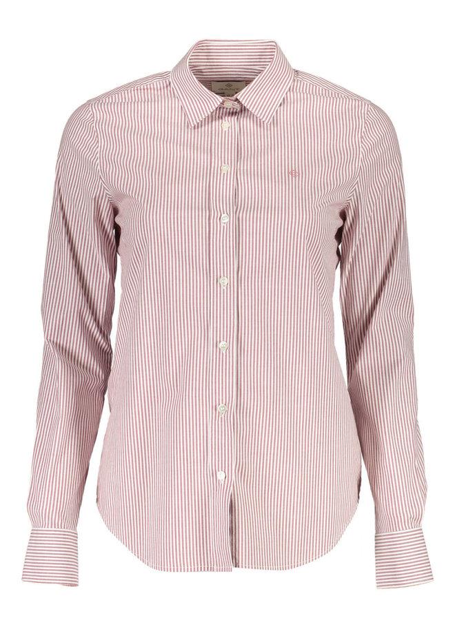 Banker Stripe Stretch Broadcloth Shirt