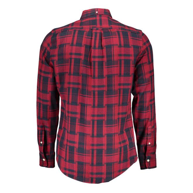 Deconstructed Check Slim Shirt Men