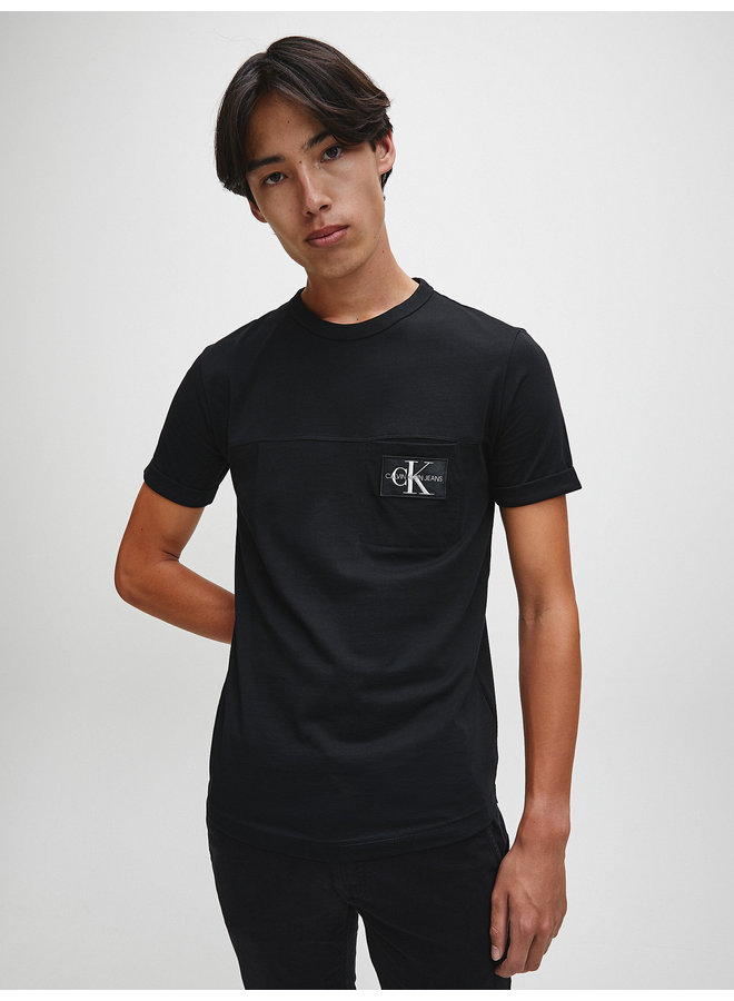 Slim Organic Cotton Badge T-Shirt