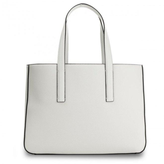 Edge Medium Shopper bag - White