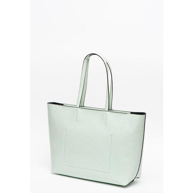 Green Crocodile Tote Bag