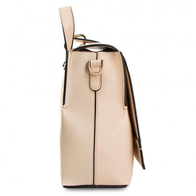 Neat Top Handle Bag -Beige