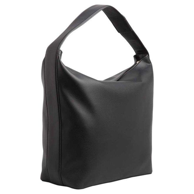 Large logo plaque shoulder bag