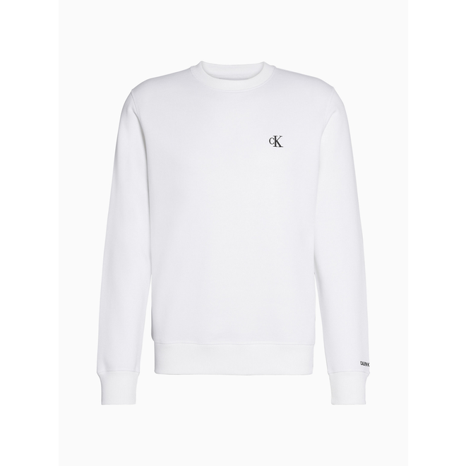 Cotton Blend Fleece Sweatshirt - White