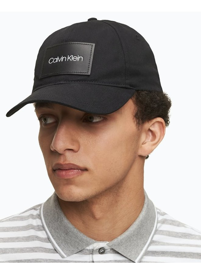 Calvin Clein Leather Patch Cap