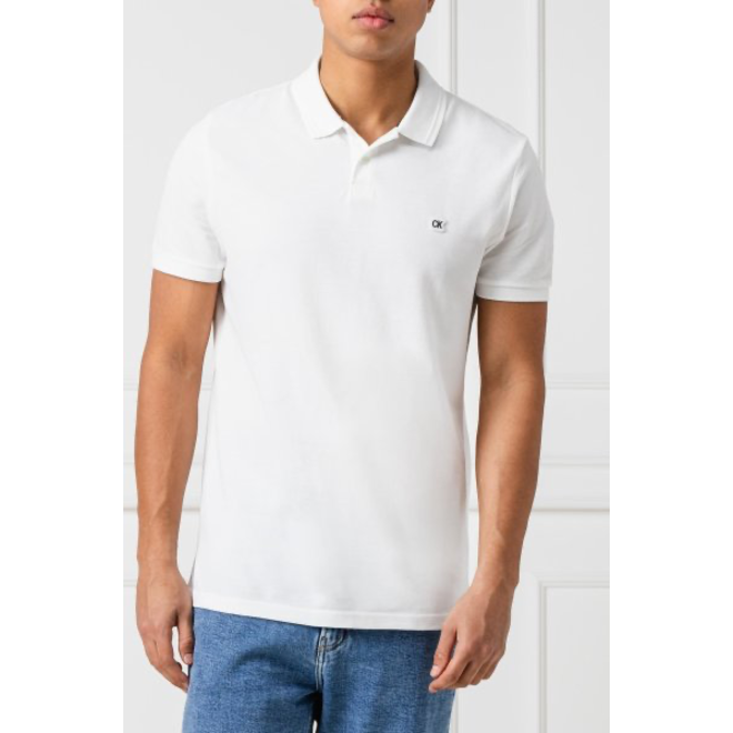 Badge Pima Cotton Polo Top