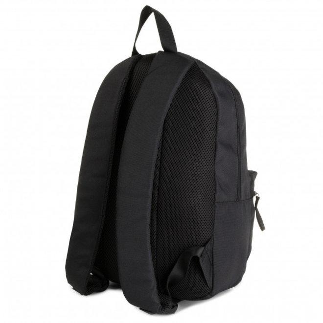 Logo patch backpack - Black
