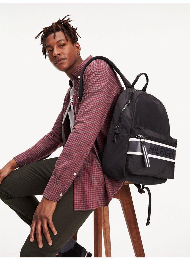 Colour-Blocked Logo Backpack