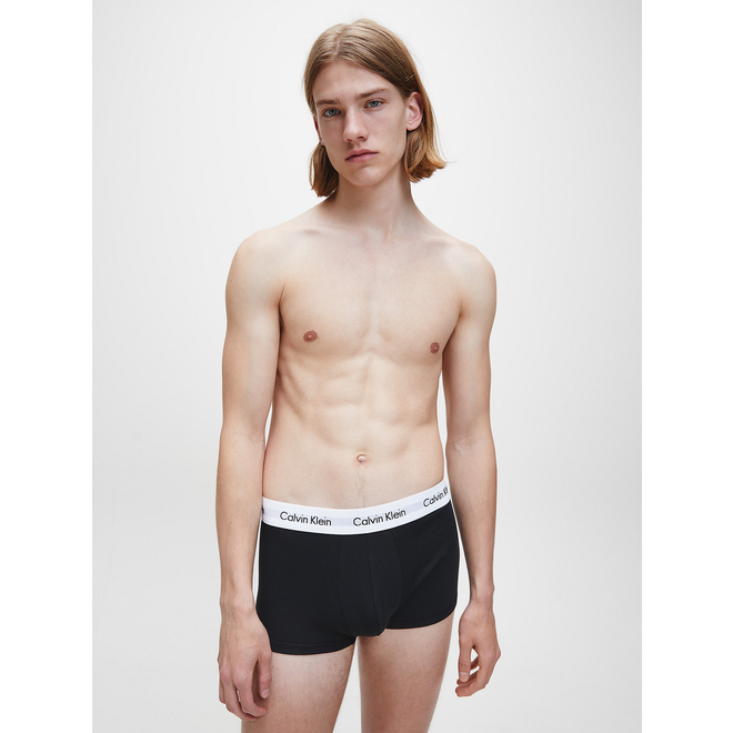 3 Pack Low Rise Trunks - Black