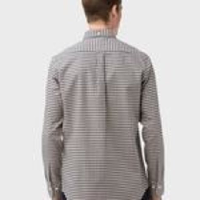 Regular Fit Micro Check Heather Oxford Shirt