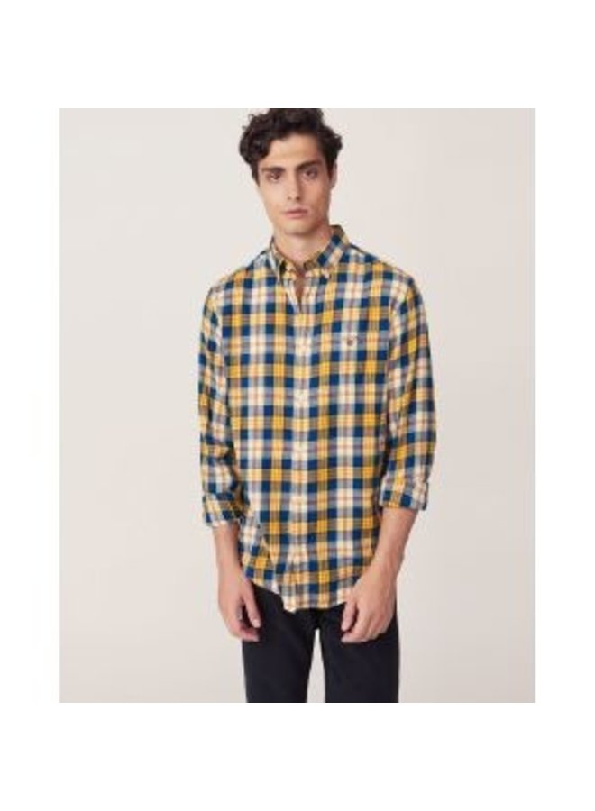 Regular Fit Flannel Plaid Check Shirt
