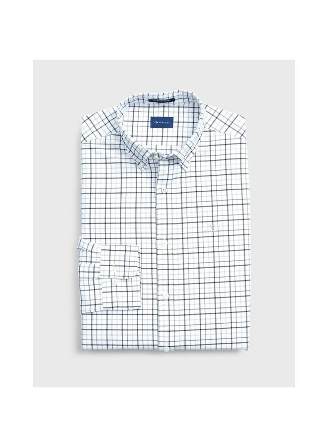 Slim Fit Check Beefy Oxford Shirt