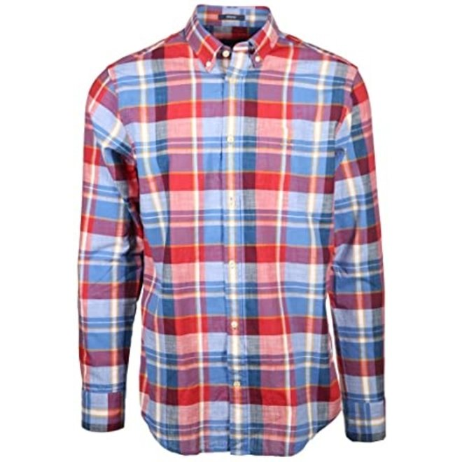Regular fit check shirt - Red