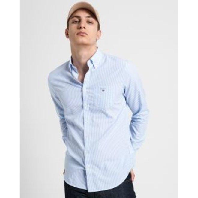 Regular Fit Banker Broadcloth Shirt - Light blue