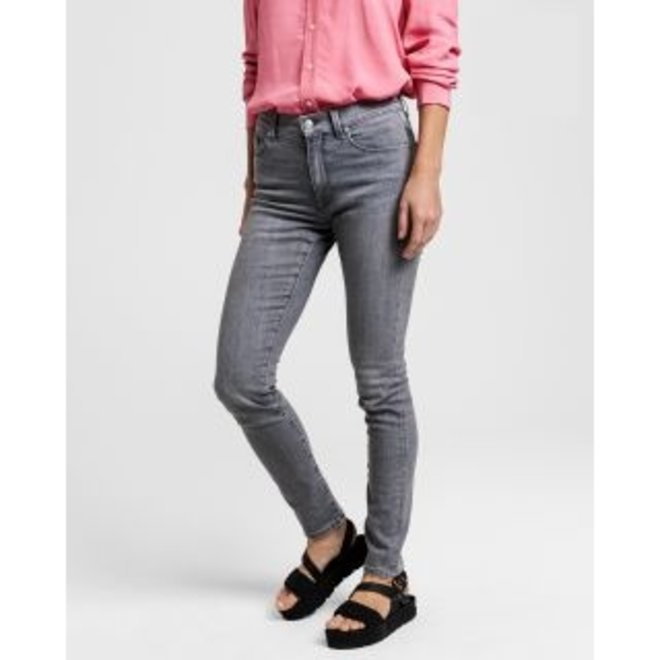 Skinny Super Stretch Jeans - Grey Worn In