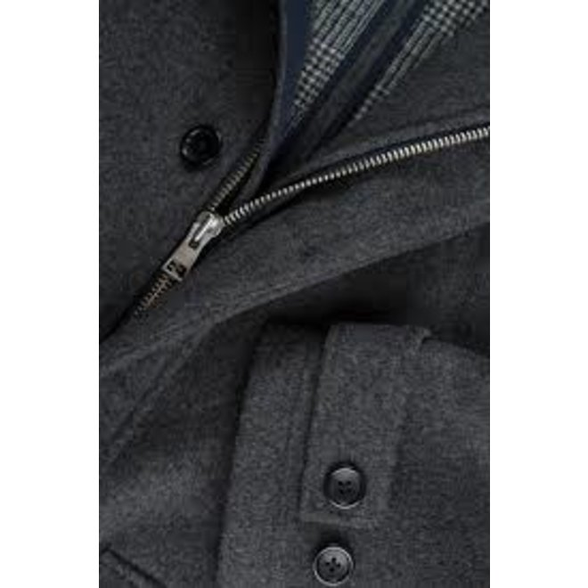 Wool Parka -Dark grey