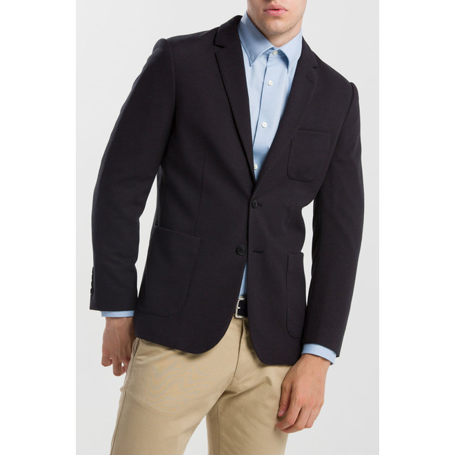 Woolen Jersey Blazer - Black