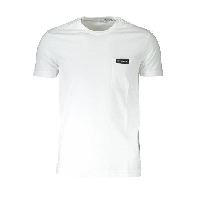Slim Organic Cotton Pocket T-Shirt - White
