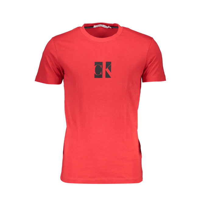 Slim organic cotton logo T-shirt - Red