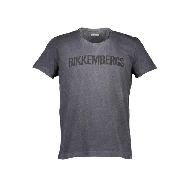 Crewneck T- shirt with logo print - Grey