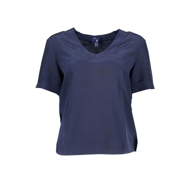 Blue Silk T-shirt women
