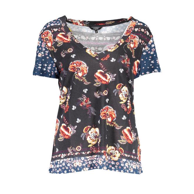 Slim floral T-shirt