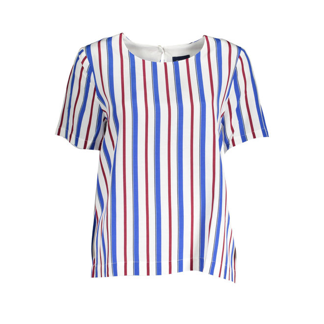 Club Stripe Top - White