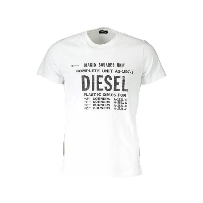 Diesel T-Diego B6 Industrial Print T-Shirt - White