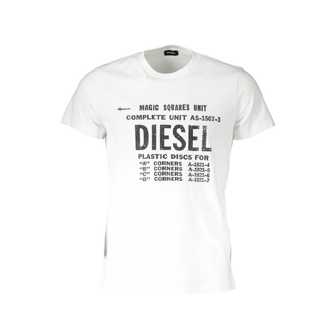 T-Diego B6 Industrial Print T-Shirt - White