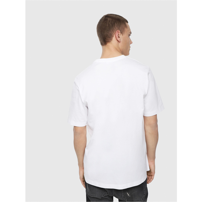 Diesel T-Just Y4 Jersey T-shirt with d logo - White