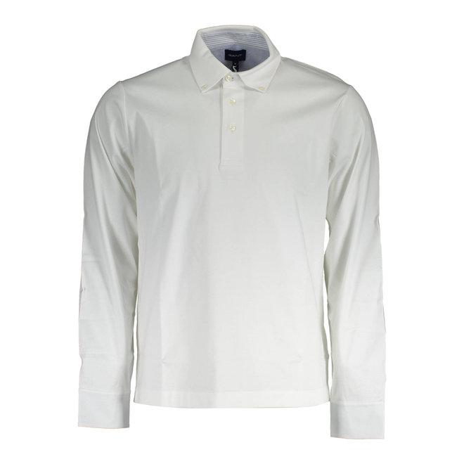 White Mercerized Jersey Rugger