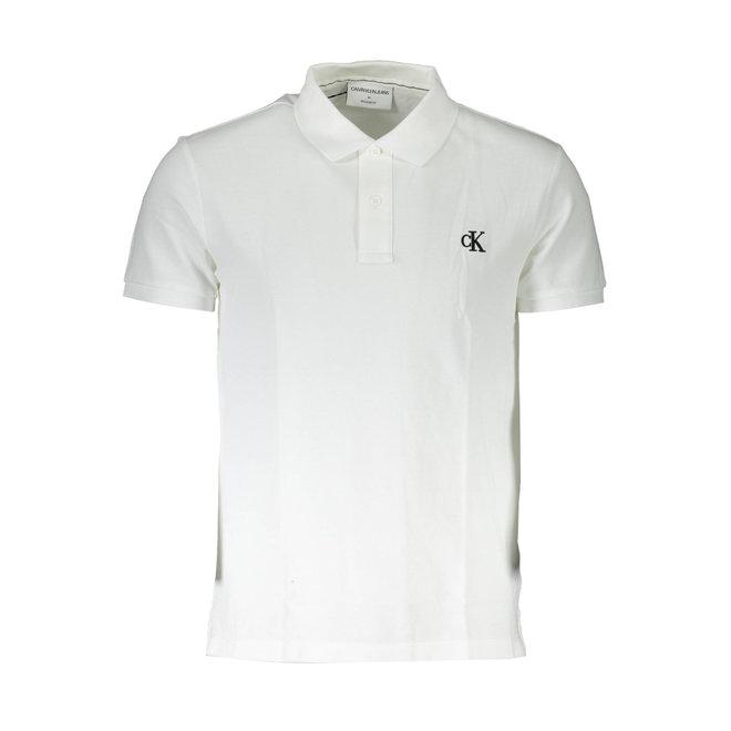 Cotton Piqué Polo Shirt - White