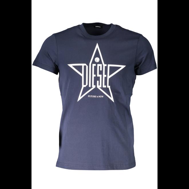 T-Diego YH Star-print T-Shirt with regular-slim fit - Blue