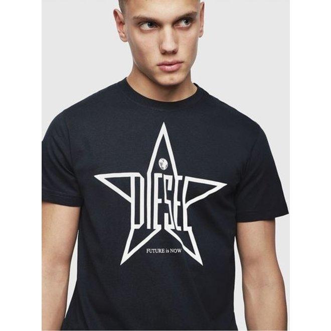 T-Diego YH Star-print T-Shirt with regular-slim fit - Black