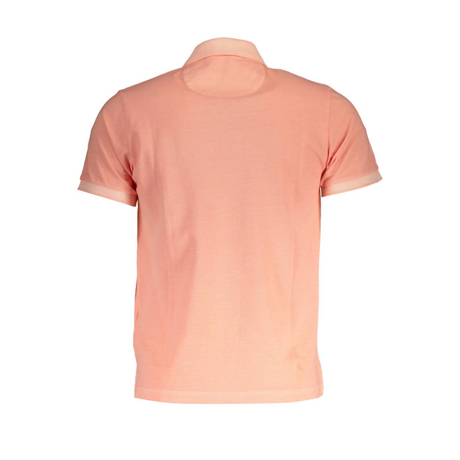 Sunfaded Piqué Rugger  -  Coral