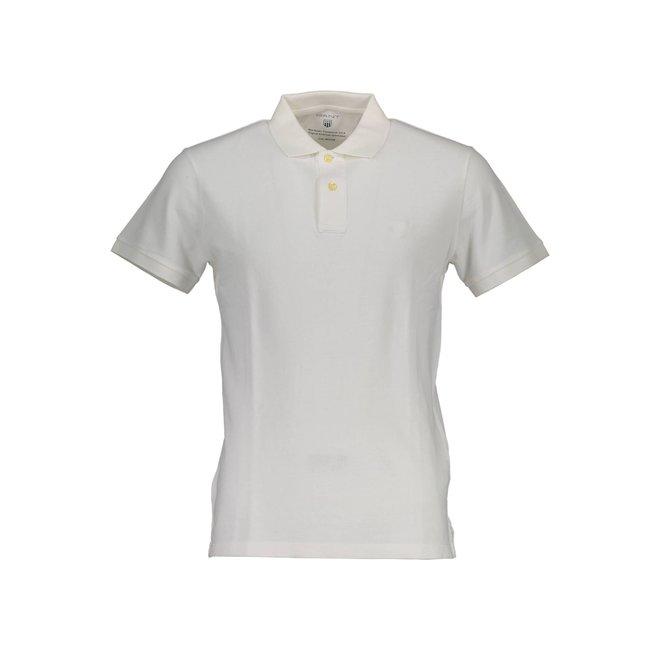Sunfaded Piqué Rugger Men- White
