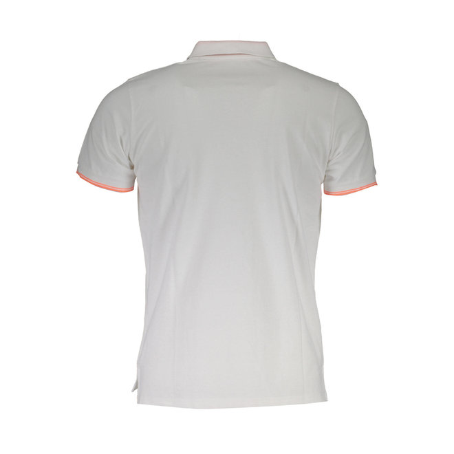 Tipped Relaxed Fit Jersey Polo Shirt-White