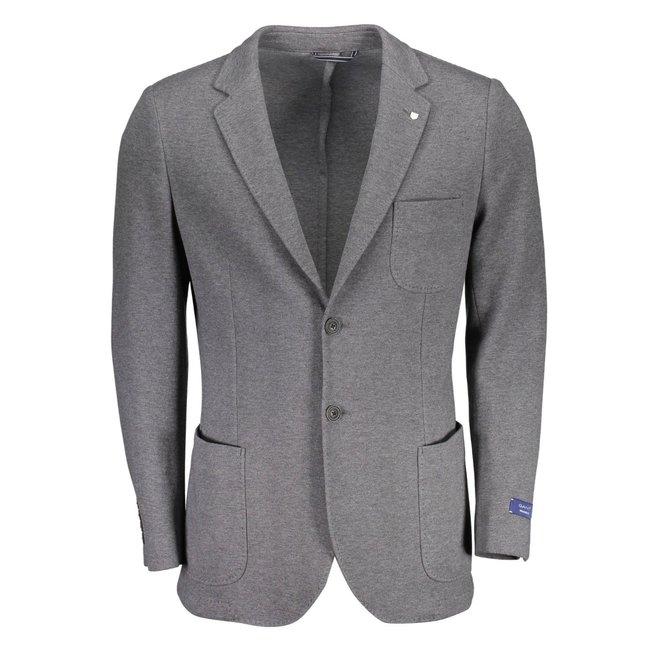 Classic Cotton Blazer - grey