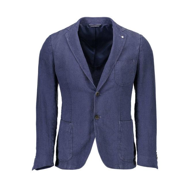 Blue Linen Blazer Men