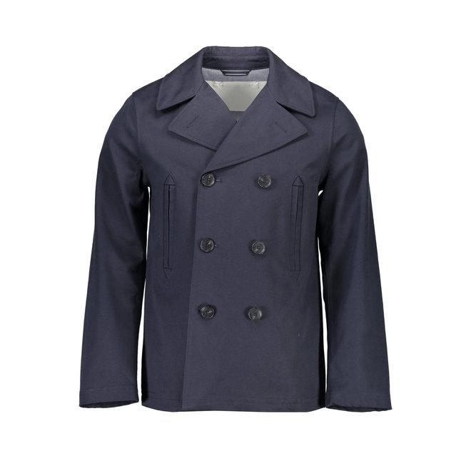 Marine Blue Classic Pea Coat Men