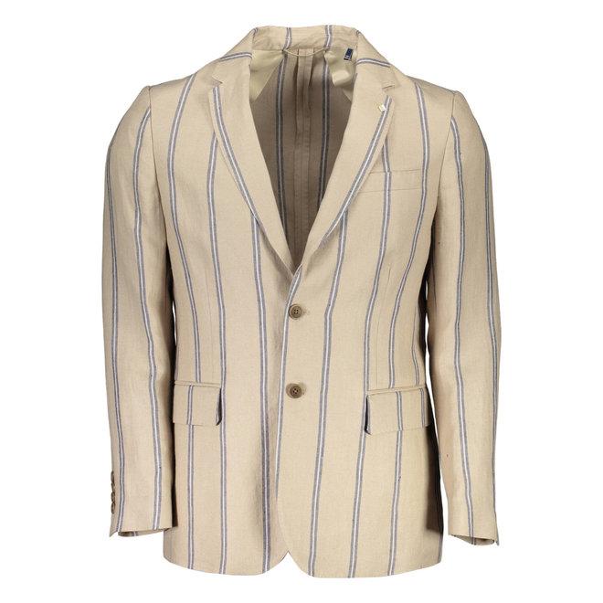 Classic linen Striped  jacket