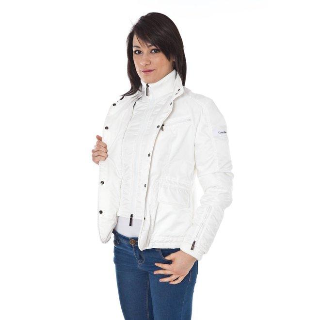 Button Front Jacket - White