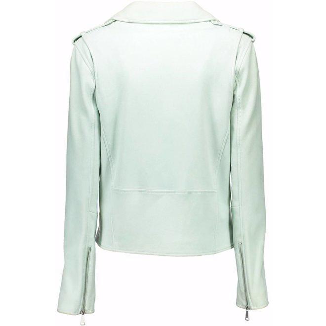 Leather Jacket  women - Mint Green