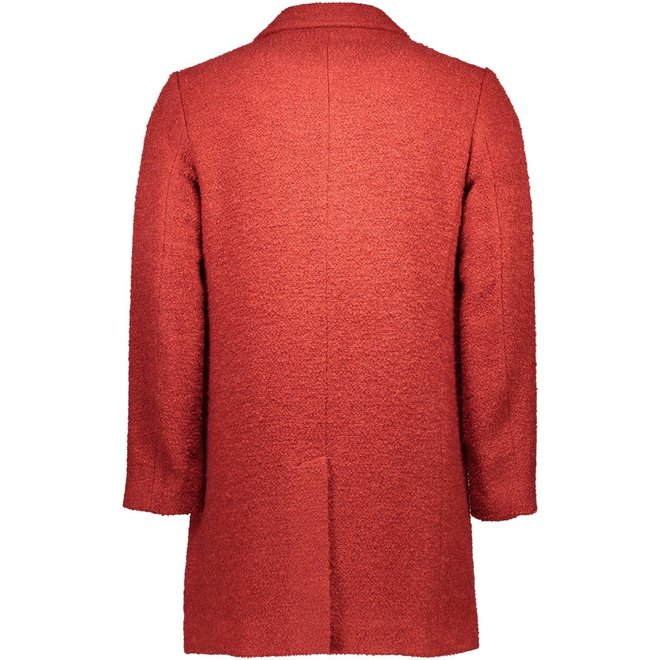 Red Double- Brested Wool Coat Men