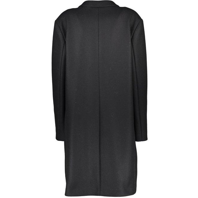 Classic Black Paletot Wool Coat